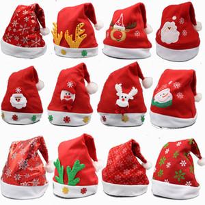 سانتا كلوز عيد الميلاد الحلي الكبار عادي عيد الميلاد سانتا القبعات كاب للحصول على الدعائم حفلة عيد الميلاد