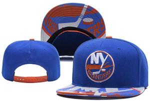 New Caps New York Islanders Hóquei Snapback Chapéus Cor Azul Cap Equipe Chapéus Mistura Jogo Ordem Todos Os Tampas de Alta Qualidade chapéu