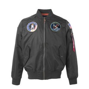 Apollo US Air Force ma1 Bombardier Flight Pilot Jacket marque vent american college drapeau lumière nouvelle vue hip hop dropship pour les hommes