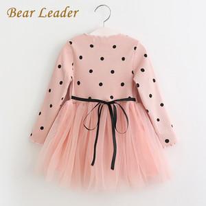 Druck Bärenführer Mädchen Kleid Prinzessin Kleid 2018 Marke Mädchen Kleid Kinder Kleidung Ballkleid Dot Print Kinder Kleidung Mädchen Kleider