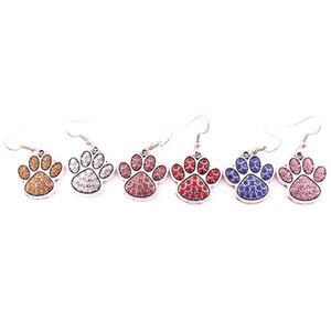 Цвет смешивания Кристалл Сплава Paw Footprint Шарм, Пригодный Для DIY Собака, Кошка или Медведь Pet Серьги Ювелирные Изделия