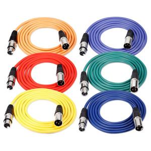 2M / 6.5ft XLR mâle à XLR femelle Couleur Câbles Microphone caoutchouc Cordons câbles blindés Cordons Serpent équilibré