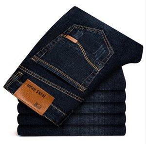 Brother Wang Brand 2018 Nuevos hombres Jeans negros Moda de negocios Estilo clásico Elástico Slim Pantalones Jeans Hombre 108