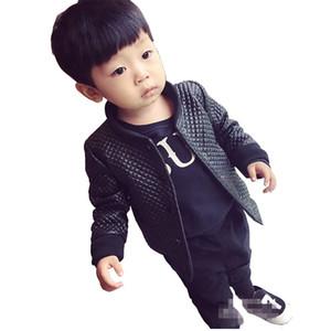 enfants tops enfant automne printemps hiver vêtements enfants veste pour manteaux de bébé garçons manteau en cuir PU pour enfants