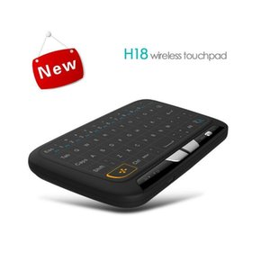 H20 H18 Mini Wireless Keyboard Backlight Touchpad Air mouse IR Leaning Remote control For Andorid BOX Smart TV Windows