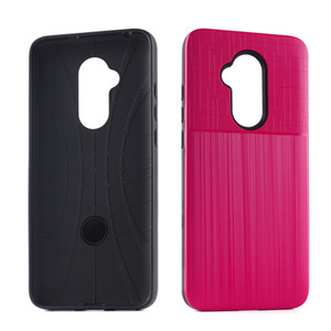 Hybrid Armor TPU PC Case para Alcatel 7 Folio Alcatel 7 Metropcs para LG Q7 + Q7 PLUS Metropcs Dual Layer Protector Cover B