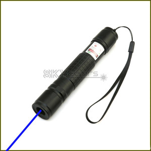 BX2-A 450nm Schwarz Einstellbare Fokus Blau Laserpointer Laser taschenlampe sichtbarer laserstrahl