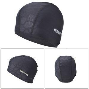 Tecido impermeável Cor Elastic puro Ears proteger o cabelo longo Sports Swim Piscina tamanho Hat Durabilidade Natação Cap gratuito para as Mulheres Homens Adultos