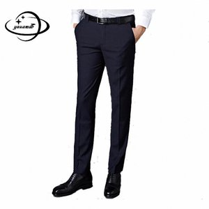 YAUAMDB men suit pants 2017 autumn winter size 28-40 male business long trouser formal wedding casual dress pant y64