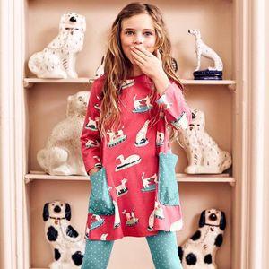 Baby Girls Autumn Dress Kids Clothes Long Sleeve Princess Dress Animal Applique Children Unicorn Party Dresses