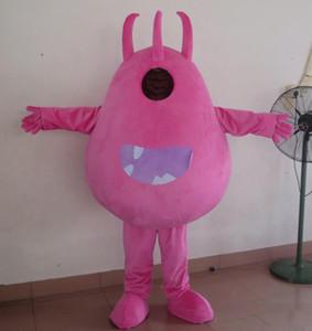 2018 скидка завод продажа головы розовые микробы бактерии монстр костюм талисмана для взрослых для продажи