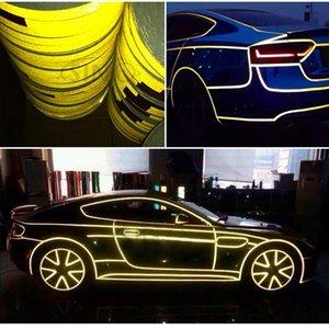 5 m Cinta reflectante para la decoración del automóvil Identificación de seguridad del autobús escolar Pegatinas del cuerpo de la motocicleta Barras de advertencia