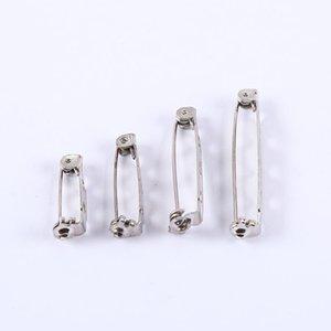 Tom de prata Brooch Back Bar Pins Beads Resultados DIY Jóias Fazendo Acessórios 15mm 20mm