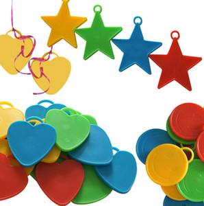 Balloon weights Helium ballon pendants Wedding decoration Birthday party supplies Star  Heart  circle shape options 50 pcs lot wholesale