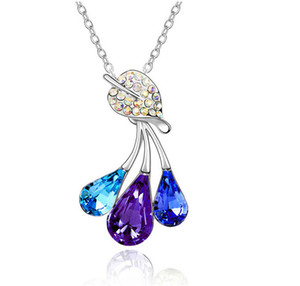 Coreano Fashion Concise Piccoli accessori Drip Three A A Drip Fork Necklace Pendant Online