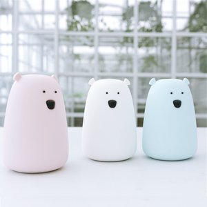 Portable Silicone LED Smile Night Light For Kids [ USB Rechargeable, Warm   White Light, 7-Color Breathing Dual Light ] Cute Children Night