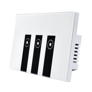 Interruptor leve esperto de FUNN-WiFi Alexa, painel do interruptor da luz da placa de parede do toque de 3 grupos