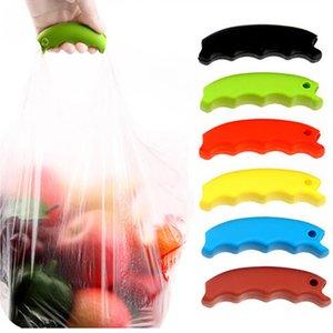 Saco de Compras de silicone Cesta Portador De Supermercado Lidar Com Alça Confortável Apertos Esforço-Salvar Mecânica Do Corpo Multi Color Livre DHL WX-C20