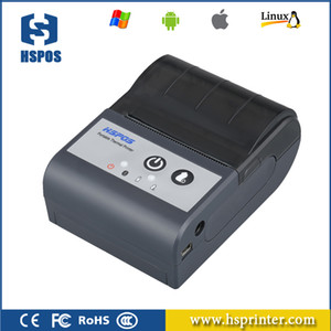 مصغرة 58MM المحمولة بلوتوث الطابعة الحرارية للشحن تسمية بيل استلام دعم لغات متعددة وطباعة الباركود HS-591AI