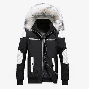 Giacca Nuovo Inverno Uomo Casual colletto in pelliccia spessore caldo Parka Cappotti Cotton-Padded Windbreaker Outwear Giacche Uomo Parka Hombre