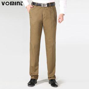 VOMINT New Autunno Uomo Pantaloni casual da lavoro Pantaloni pesanti in cotone Pantaloni dritti regolari Taglia 40 Pantaloni tuta V7A1P002