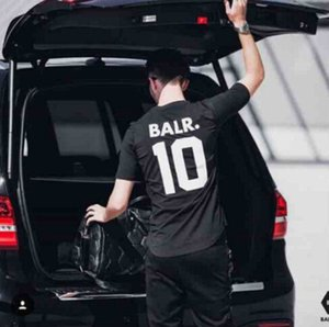 BALR 10 Mektup Baskı Tshirt Erkek Kadın Yaz Kısa Kollu Aktif Spor Tees Casual Futbol Topu Aşıklar Tshirt Tops Giymek