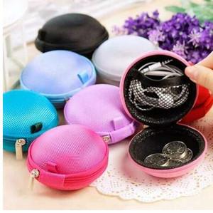 XZHJT Mode Portable Mini Runde Silikon Geldbörse Tasche Für Kopfhörer SD Karten Kabel Draht Speicherschlüssel Brieftasche 8x5 cm