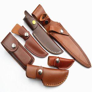 Sheath Fixed Knife Sheath, Genuine Leather Folding Knife Sheath Brown Black Color