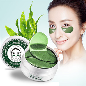 Green Diamond Pearl Lady Eye Mask 60pcs Anti Ageless Remove Eye Bags Dark Circles Eye Patches Skin Care