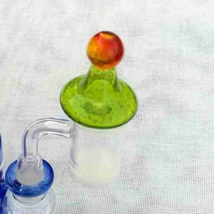 Новые красочные Carb Caps Glow In The Dark Mini Аксессуары Cute курения для стекла Кварц Тепловое Banger Hat Стиль DCC07