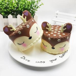 Squishy Langsam steigende Stern Hirschzähne Zuckerwatte Jumbo Squishy Cute Unicorn Wal Kuchen Eis Squeeze Toy Phone Strap
