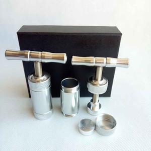 El polen de metal Press Presser Compresor CREMA 2 estilos para molinillo de hierbas Click n vaporizador cigarrillo cera seca de herramientas