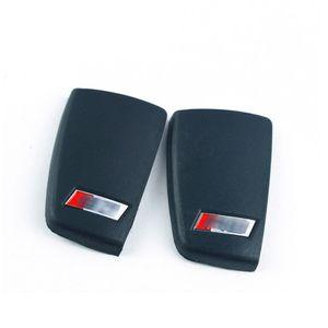 S3 RS logotipo caso chave tampa traseira para Audi A3 S3 Q3 A6 L TT Q7 R8 Três-botão chave do carro modificado shell chave luva