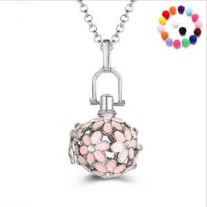 nouveau fleur accessoires perle collier médaillon huile essentielle diffuseur colliers évider médaillon cage pendentif collier