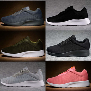 2017 Tanjun Mesh Running Shoes Mens Women Athletic London Olímpico Tanjun Negro Blanco Lace Lace Mesh Sport Neakers Zapatos 5.5-11