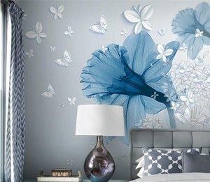 Fondo estereoscópico 3D Flores Fondo de pantalla de Simple European Custom Papel Do Parede Style Desktop Wallpaper Luxury Pmctb