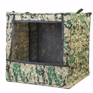 Men's Portable Foldable Outdoor Box-type Airsoft Shooting Game Target Case for slingshot traning purpose canvas fabric box