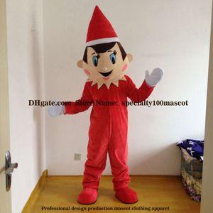 Weihnachtsjungen-Maskottchenkostüm erwachsene Größenkarneval Qualitätsmaskottchen geben Verschiffen frei, wirkliches Bild-Partyjungen-Maskottchenkostüm direkt ab