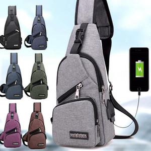 externe USB-Lade-Kastenbeutel-Satz-Spielraumcrossbodybeutel für Jungen und Mädchen Sling-Schulter-Beutel-Reise-Sport-Geldbeutel mit USB-Aufladung