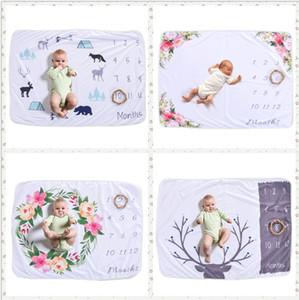4 Estilo 76 * 102 CM cobertor recém-nascido do bebê foto adereços de fundo Cobertores de Bebê de lã polar Macia e Swaddling