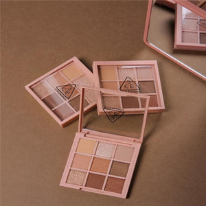 New In stock 3CE Eyeshadow Overtake 9colors eye shadow and HANDAIYAN 9 Color palette earth pumpkin eyeshadow makeup nude palette
