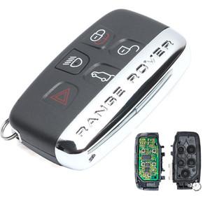 7953ptt uzaktan anahtar LR4 / Spor / Evoque / Freelander 433MHz 2010 2011 2012 2013 ile Landrover anahtarsız akıllı anahtar için 4 + 1 düğmesi 433MHz