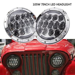 Paire de phares ronds 105W à double faisceau scellé avec anneau de remplacement pour phare à anneau de halo