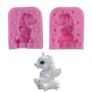 Kitchen Baking Cake Decorating Tools 3D Unicorn Shape Silicone Mould Chocolate Fondant Soap Candy Cake Molds