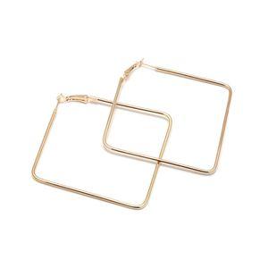 personnalité mode design simple fille élégante métal Square sexy Big Hoop Earring Bijoux pour femmes