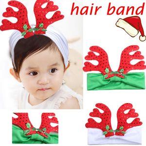 Bébé Enfant Bandeau Ruban À La Main Enfant En Bas Âge Infantile Enfants Accessoires Cheveux Fille Nouveau-Né Arcs Tiara Turban Bandage De Noël