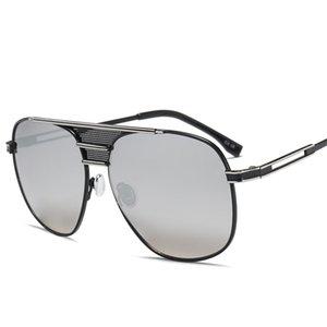 Sun Glasses Fashion Women Metal Sunglasses Men Stylish Big Frame Grey Glasses for Male Driving Fishing Pilot Oculos