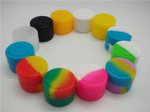실리콘 컨테이너 용기 왁스 농축 2ml 구형 왁스 컨테이너 실리콘 항아리 용 왁스 실리콘 항아리 Dab Nonsolid 색상