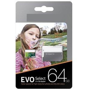 2020 새로운 도착 뜨거운 판매 그레이 그린 64 기가 바이트 128 그램 256Go 32 그램 EVO 선택 TF 메모리 카드 무료 SD 어댑터 소매 패키지 스마트 폰