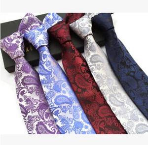 브랜드 넥타이 사업 남성용 넥타이 페이즐리 넥타이 폴리 에스테르 실크 타입 코르 바 타스 인쇄 목 넥타이 Wedding Necktie 18 colors